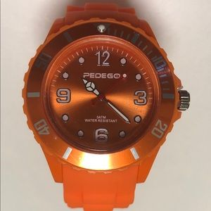 Pedego Electric Bikes Orange Sports Watch